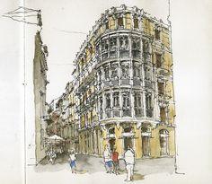 Málaga, Calle Santa María by Luis_Ruiz, via Flickr