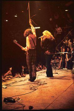 Led Zeppelin's concert, 1971.