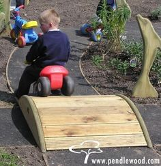 Need a bridge bigger than this to go over our pond in the backyard @ lakehouse! Cute idea!