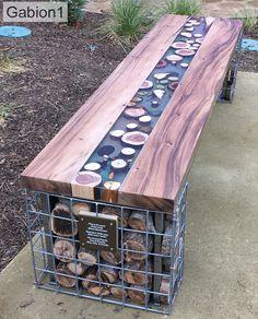 Outdoor Patio Designs, Outdoor Landscaping, Diy Patio, Outdoor Seating, Outdoor Rooms, Backyard Patio, Gabion Stone, Gabion Fence, Gabion Wall