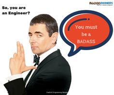 So you are an engineer? #Faadooengineers