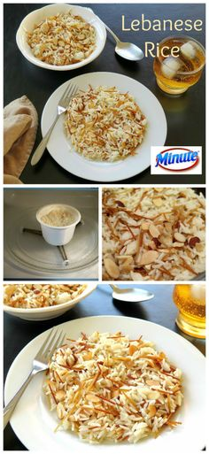 Lebanese Rice made quick and easy with Jasmine Minute® Ready to Serve Rice just add vermicelli and almonds! MixInMinute AD @minutericeUS