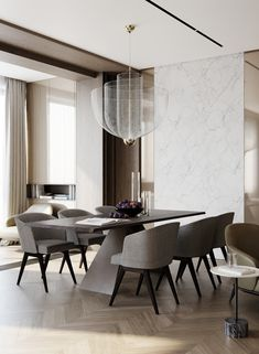 Choose from the largest collection of Dining Room Design & Decorating Ideas to add style at Dining Room. Discover best Dining Room interior inspiration photos for remodel & renovate, here. Luxury Dining Tables, Luxury Dining Room, Dining Room Design, Dining Room Furniture, Modern Dining Chairs, Design Hotel, Modern Interior, Interior Design, Apartment Interior