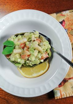 Mediterranean Shrimp Salad with Avocado and Feta Cheese from Mother Rimmy's was featured in the March 2015 #DeliciouslyHealthyLowCarb Recipes round-up on KalynsKitchen.com.