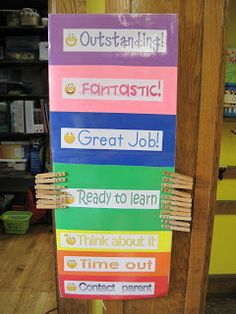 My clip chart! Love to acknowledge positive behavior to get the rest of them focused!