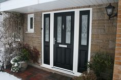 Double Glazed Front Doors With Side Panels