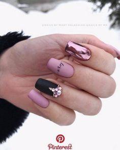 40 best nails collection 2019 001 40 best nails collection 2019 001 5 practical ways to apply nail polish without errors Es is Love Nails, Pink Nails, Gel Nails, Violet Nails, Matte Nail Polish, Nail Nail, Gorgeous Nails, Nagel Hacks, Nagel Gel