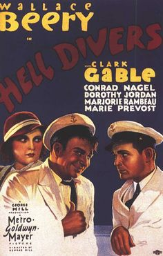 Clark Gable and Wallace Beery in Hell Divers (1931)