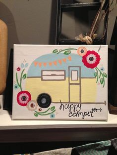 the happy camper sign