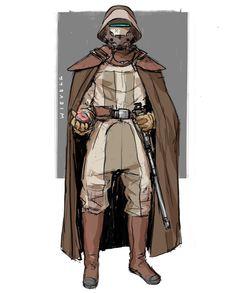 D&d Star Wars, Star Wars Facts, Star Wars Characters Pictures, Star Wars Pictures, Character Sketches, Character Portraits, Character Design, Jedi Armor, Banner Saga