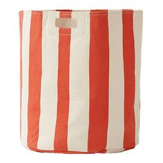 Stripe Hamper in Orange by Pehr Designs