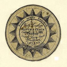 Watch-Paper Prints. Originally designed as a protective insert, watch-papers came to be used as an advertising medium for the watchmakers in the second half of the 18th century and another means by which print artists could ply their trade