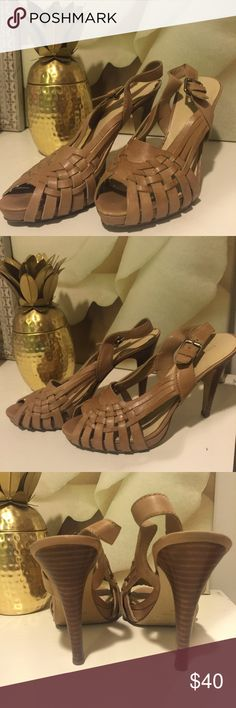 Nine West heels Worn once. Like new condition Nine West Shoes Heels