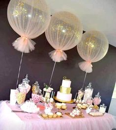 Confetti Balloons Tulle Birthday Balloons Kit Set of 3