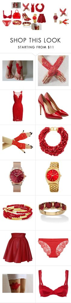 """""""red passion"""" by alessandra-moretti-1 ❤ liked on Polyvore featuring ML Monique Lhuillier, Salvatore Ferragamo, Kenneth Jay Lane, Thomas Sabo, August Steiner, Chrysalis, Palm Beach Jewelry, Funlayo Deri and STELLA McCARTNEY"""