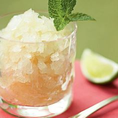 Mint Julep Granita: The classic cocktail provides relief from the heat of a Southern summer, so why not freeze and serve it for dessert?