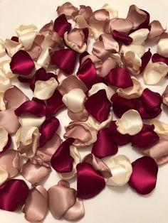 Marsala Rose Petals/Rose Gold Petals/Rose Gold Wedding/Bridal Petals/Southern Chic Wedding/Wedding Petals/Garnet Rose Petals/Quartz Petals – Famous Last Words Rose Gold Wedding Dress, Gold And Burgundy Wedding, Gold Wedding Colors, Floral Wedding Cakes, Gold Wedding Decorations, Wedding Color Schemes, Rose Petals Wedding, Wedding Themes, Wedding Ideas
