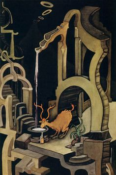 Seuss (Theodor Geisel, American, The Stag at Eve, circa 1960 More Dr Seuss on hideback Dr Seuss Art, Dr Suess, Theodor Seuss Geisel, Francis Picabia, Arte Horror, Art Archive, Art Plastique, Art For Sale, Black Backgrounds