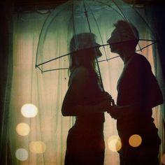 romance under an umbrella