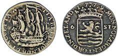 6 STUIVERS HOLLAND-6 STUIVERS HOLANDA. Ag. ZEELAND / ZELANDA. 1779. VF/MBC.