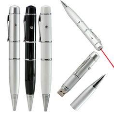 Hot Ballpoint pen model Laser Light usb flash pen drive memory stick pendrive 4GB 8GB 16GB 32GB 64GB Business gift Free shipping