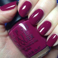 Dark Pink Nail Art #nails