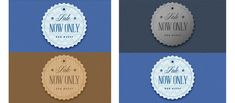 Free 3 Circle Retro Sale Badges Set #freebies