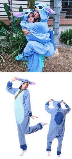 dfc20b56f4 Disney Lilo   Stitch One-piece Flannel Pajamas from modsele