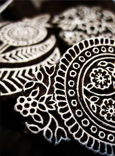 Indian wood block printing