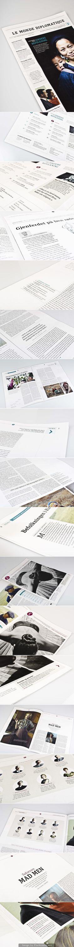 Newspaper – Le Monde Diplomatique by Hanna Elise Haugerød