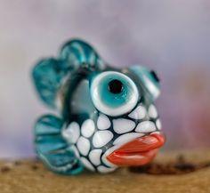 Wanda walleye........ lampwork fish bead..... sra by DeniseAnnette on Etsy