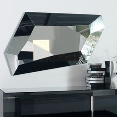 Diamonds are a girl's best friend, but this mirror is even better. Order the Diamond wall mirror for a touch of contemporary mirror wall art in your home. Contemporary Wall Mirrors, Modern Wall, Modern Bedroom, Contemporary Art, Old Mirrors, Floor Mirrors, Venetian Mirrors, Diamond Wall, Italia Design