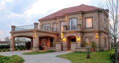 Fernandez Borda Arquitectura House Front Design, Modern House Design, Luxury Staircase, Modern Mansion, Spanish House, Mediterranean Homes, Dream House Exterior, Dream Home Design, Facade House