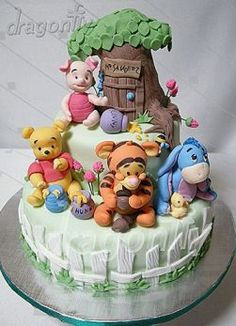 Pooh Bear cakes for children parties, or Disney obsessed adults...