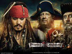 pirates of the caribbean johnny depp geoffrey rush captain jack sparrow ian mcshane blackbeard capta Wallpaper