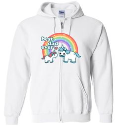 awesome Best Unicorn Dad Unisex zip hoodie