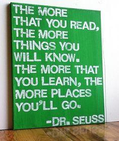 Dr. Seuss-reading center