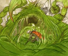 Week 1 - Final Fantasy I - Concept Art Monday - FF1 Ochu ffcompendium.com