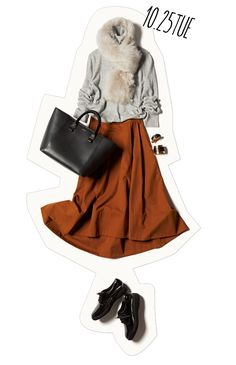 鮮度が急上昇♡ おしゃれな人と会う日は「テラコッタ」スカートで♪-@BAILA ワタシを惹きつける。モノがうごく。リアルにひびく。BAILA公式サイト|HAPPY PLUS(ハピプラ)集英社