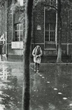 Henri Cartier-Bresson - Alberto Giacommeti, Rue D'Alésia Paris,...