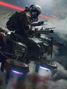 Gravity Rider, Paul Chadeisson on ArtStation at https://www.artstation.com/artwork/gravity-rider