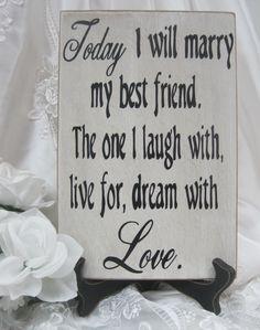 Wedding Ceremony Signs | Rustic Wedding Sign Marry my Best Friend by dlightfuldesigns
