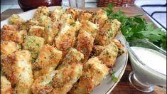 Кабачки в сырной панировке • кабачок • яйцо • твердый сыр • крахмал • панировочные сухари • соль, перец • сухие травы (базилик и эстрагон) Кабачок
