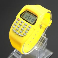 Find More Calculators Information about 2016 Fashion Digital calculator with LED Watch function Casual Silicone Sports For Kids Children Multifunction Calculating,High Quality watch silver,China watch band tool link pin remover Suppliers, Cheap watch watches from Persona Toy Co., Ltd. on Aliexpress.com