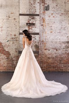 justin alexander spring 2017 bridal sleeveless illusion bateau neckline sweetheart deep plunging neckline pretty romantic a line wedding dress v back chapel train (9848) bv