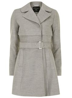 8a4df0995db Grey trench fit and flare coat - Jackets   Coats - Clothing