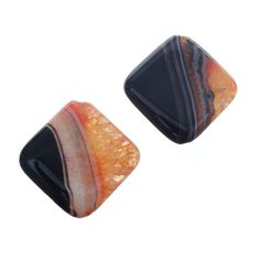 Orange Agate 36mm Diamond Pendant
