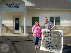 Last week I lent out my Route 66 stencils to a small village neighboring Sullivan, Missouri. Oak Grove Village is proud to be on Route 66 and they want to express their enthusiasm by applying the Route 66 shield on their roadway. Pam Campbell contacted me several weeks ago to request the use of ...