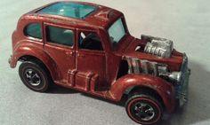 MATTEL HOT WHEELS RED LINE 1970 COCKNEY CAB RED BOYS  #Mattel