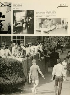 Athena yearbook, 1986. The patio outside Old Baker Center's Frontier Room was popular. :: Ohio University Archives